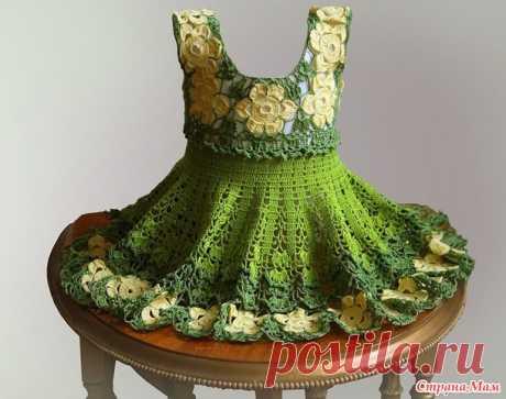 Цветочное зеленое платье для моей Рене - Вязание - Страна Мам