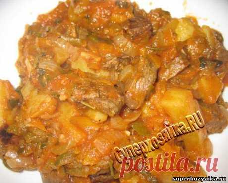 Азу по-татарски. Сытный ужин. Классический рецепт татарской кухни. Блюдо из говядины с картофелем