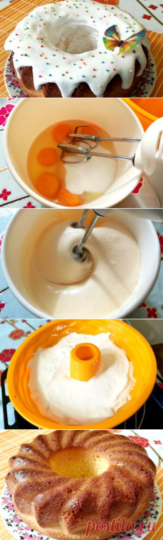 Кулич бисквитный на пасху | Вкусный день