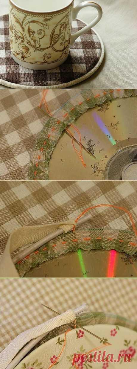 Подставка из ненужного диска Дизайн своими руками