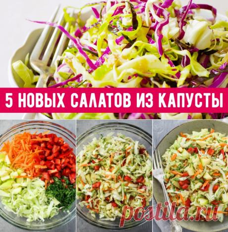 Простые, но вкусные салаты с капустой