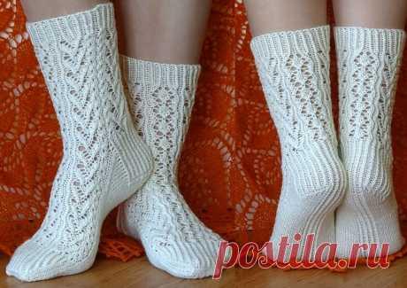 Ногам тепло, душе отрада: подборка ажурных носочков спицами   Paradosik_Handmade   Яндекс Дзен