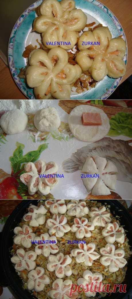 Паровые булочки с лососем на капустной подушке от Valentina Zurkan/Becker