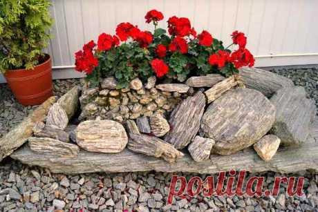 Клумбы из камней: изготовление своими руками, как украсить клумбу, инструкция как сделать бордюр, оформление и виды дизайна возле дома