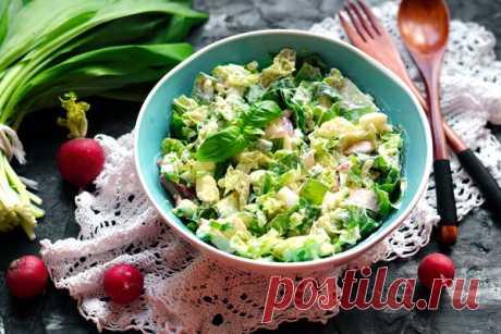 Весенний салат с черемшой, редисом и пекинской капустой - полезно и вкусно. Подкрепляйтесь! ?? | Блоги о даче и огороде, рецептах, красоте и правильном питании, рыбалке, ремонте и интерьере