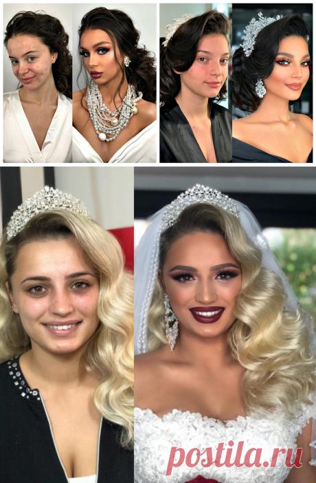 От Золушки к принцессе: удивительные превращения в невест с помощью макияжа | Новости моды