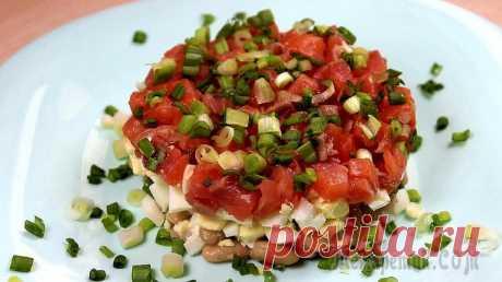 Рыбный салат очень вкусный