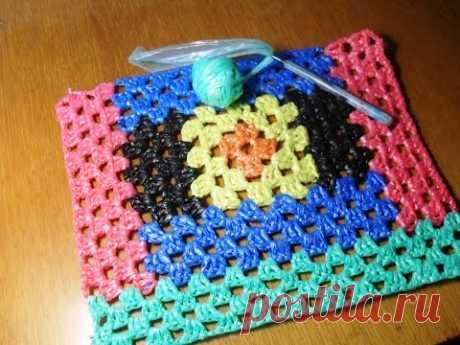 Вязание из полиэтиленовых  пакетов. Чехлы на табуретки.  Ч. 2