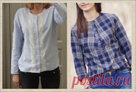 Переделка: женская блузка из мужской рубашки - большая подборка с примерами до и после   МНЕ ИНТЕРЕСНО   Яндекс Дзен