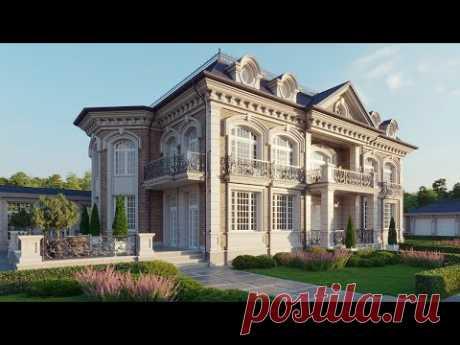 Cовременный дом в классическом стиле