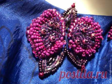 Мастер-класс: вышивка платья бисером. Часть третья: вышиваем орхидеи   Журнал Ярмарки Мастеров