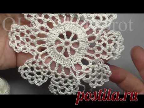 Motif lace flower Мотив кружевной цветок