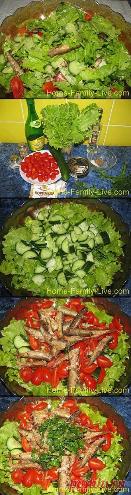 Кулинарные рецепты Салат из шпрот