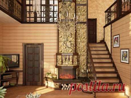 Отделка деревянного дома внутри: идеи на фото