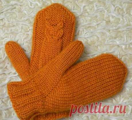 Двойные рукавички совы.