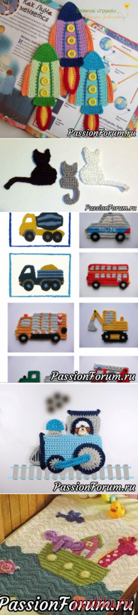 В дополнение к топику Нинули. Аппликация крючком для детской одежды (из интернета)