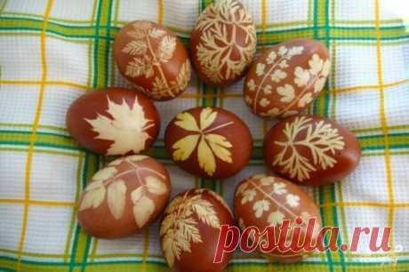 Пасхальные крашеные яйца - пошаговый рецепт с фото на Повар.ру