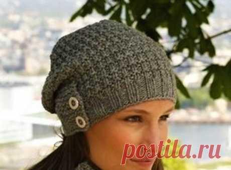 3 стильные модные шапки, связанные простыми узорами (с описанием) | Идеи рукоделия | Яндекс Дзен