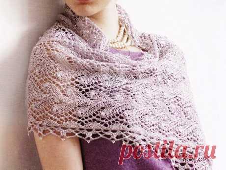 Два красивых вязаных шарфа и палантин. Схемы и описание к ним | Что я натворила?! | Яндекс Дзен