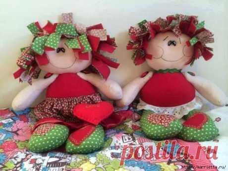 Выкройка смешных примитивных кукол