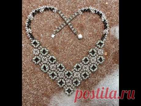Crystal Lace Necklace Tutorial