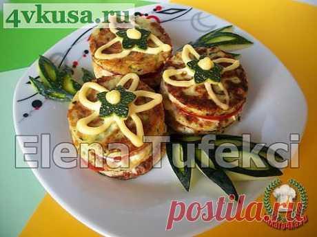 «Фуршетное пирожное» из кабачков   4vkusa.ru