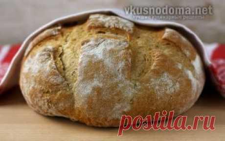 Хлеб в духовке по-домашнему – рецепт с фото, как приготовить на Вкусно Дома Ингредиенты: Мука - 450 гр Вода - 350 мл Дрожжи сухие - 1 ч.л. Соль - 1 ч.л. Рецепт приготовления хлеба в духовке по-домашнему Перемешать пшеничную просеянную муку, воду комнатной температуры, соль и сухие дрожжи. Тесто должно получиться негустым, его нужно накрыть полотенцем или крышкой и подержать для набухания клейковины при комнатной температуре в течение 12 часов, можно оставить на ночь. Проти...