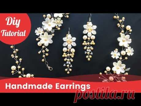 How to Make Earrings on the Wedding with own Hands in 5 Minutes