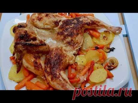 Быстрый ужин, вкусно и сытно.Цыпленок в духовке. Что может быть лучше сочного, зажареного цыпленка!