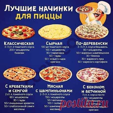 Лучшие начинки для любимой пиццы. Выбирайте любую.