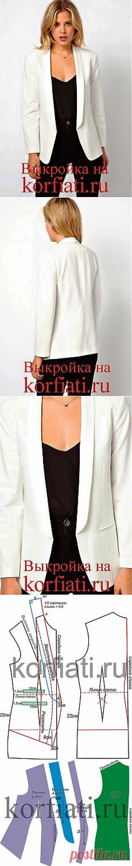Белый пиджак - выкройка от ШКОЛЫ ШИТЬЯ Анастасии Корфиати