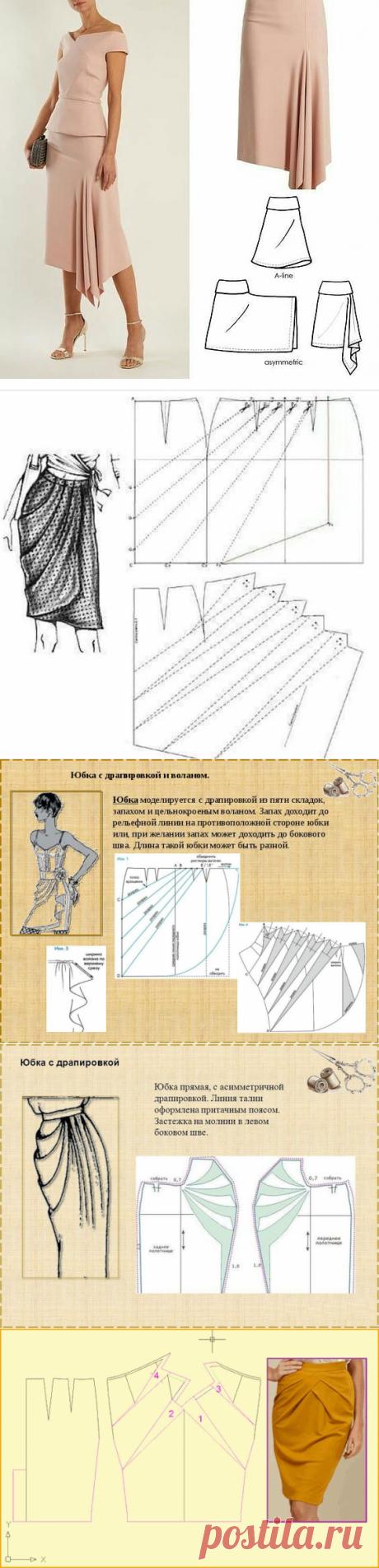 Моделирование трикотажной юбки с драпировкой — DIYIdeas