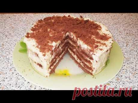 Торт без выпечки с заварным кремом. Торт на скорую руку. - YouTube