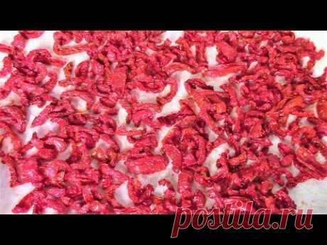 Как приготовить сушеные  помидоры в духовке - ароматные, аппетитные, сладкие и очень вкусные!