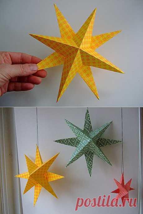Поделки своими руками - рождественская (новогодняя) звезда.