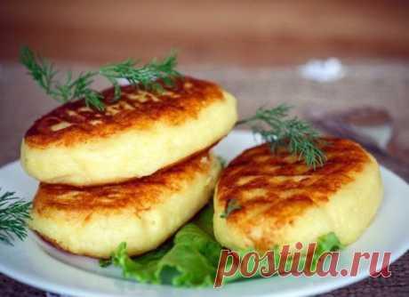 Картофельные зразы с капустой (постные)