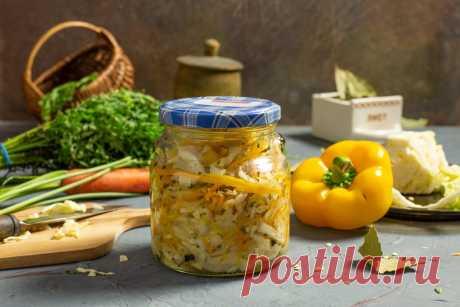 Вкусный салат из капусты, перца сладкого, моркови и лука на зиму. Пошаговый рецепт с фото — Ботаничка.ru