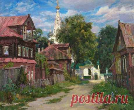 Душевные деревенские пейзажи Дианы Коробкиной .