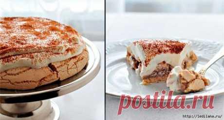 Это истинное наслаждение! Кофейный торт «Павлова»