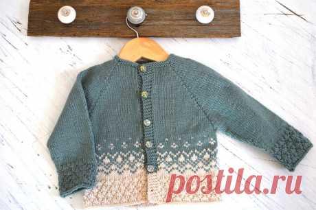 KNITTING PATTERN-Textured top down Nordic Cardigan P124 | Etsy