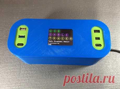 Кабельный трассировщик на Arduino С помощью этого устройства можно диагностировать тип и целостность USB-кабелей. Кабельный трассировщик подходит для проверки кабелей USB A, Mini, Mico и USB-C, определения точной конфигурации проводки, а также для диагностики обрывов соединений. Плата Arduino Mega - отличный вариант для этого