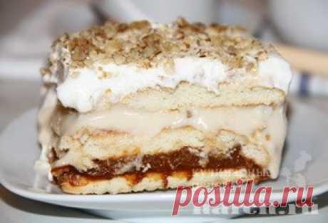Наивкуснейший торт без выпечки «Топленое молочко»