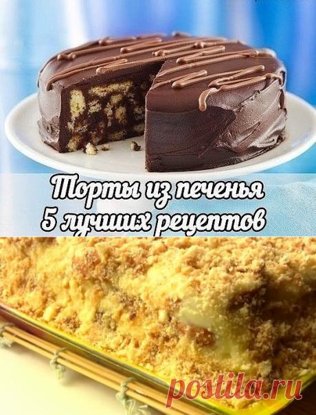Торты из печенья без выпечки