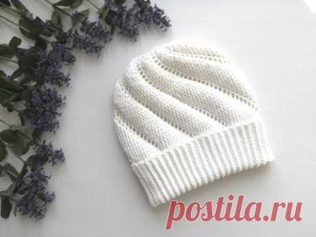 Шапочка по спирали крючком, crochet hat, вязание крючком для начинающих