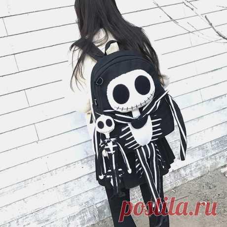 Women Halloween Skull Backpack Anti-theft Backpack - US$44.99