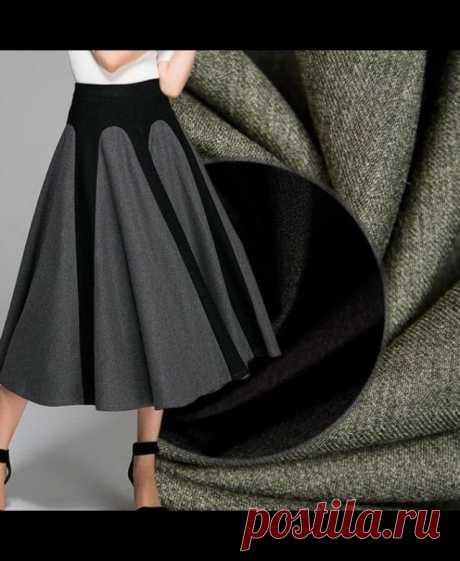 Оригинальная юбка в стиле колор-блок — DIYIdeas