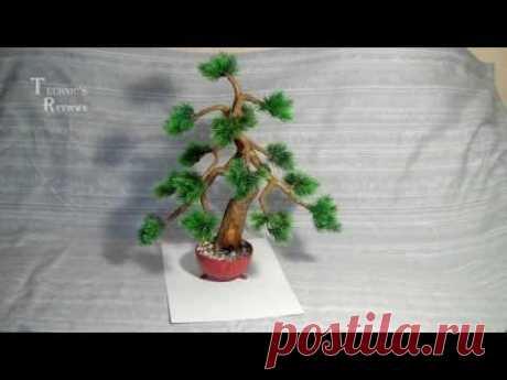 Искусственный бонсай. Сосна. Artificial bonsai.