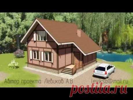 """Проект дома эконом класса """"Бавария"""" из газосиликатного блока с удачной планировкой"""