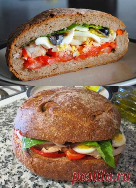 """Невыразимая легкость кулинарного бытия...: Сэндвич """"пан-банья"""""""