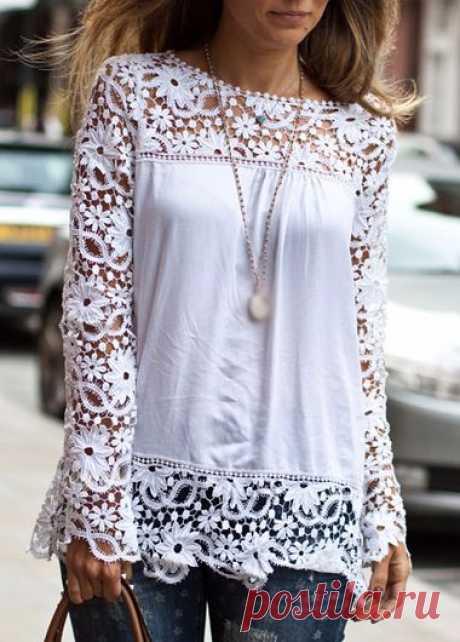 Stylish bluzky_prosty patterns
